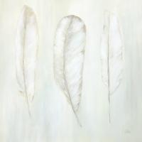 Acrylbild, Helle Federn, 80 x 80 cm