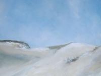 Acrylbild, Acryl auf Leinwand, Format 50 x 50 cm, Dünen, Blick auf das Meer,VERKAUFT
