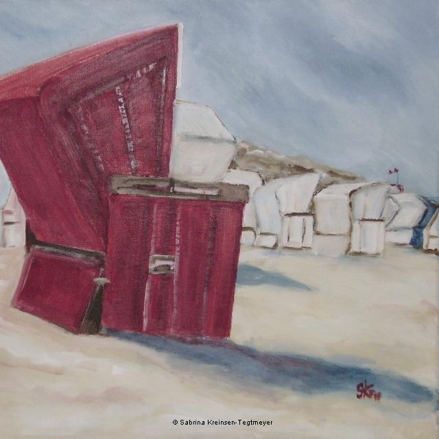 Strandkorb gemalt  Strandkörbe | poly-acryl | Originalbilder, Inneneinrichtung und ...