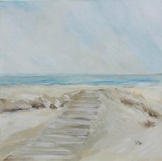 Weg zum Strand, 80 x 80 cm, 2