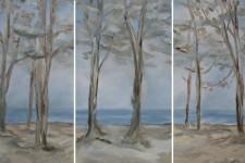 Baeume am Strand, 3 x 70 x 120 cm, 2017