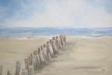 Hoelzer am Strand und Meer, 100 x 70 cm, 1