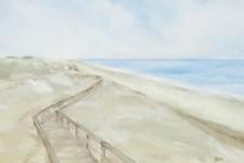 Weg in den Duenen, 100 x 70 cm, 1