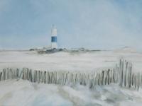 Leuchtturm im Schnee, Kampen, Sylt, VERKAUFT