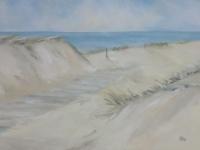 Weg zum Meer, Dünen, Meer, Holzsteg, Format: 150 X 100 cm, VERKAUFT